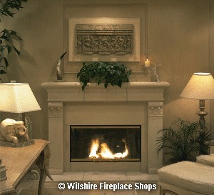 Cast Stone Mantel Marguerite | Fireplace Glass Doors | Scoop.it