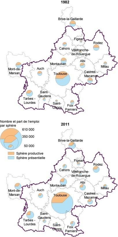 Insee - Travail-Emploi - Vent en poupe pour les fonctions métropolitaines en Midi-Pyrénées | développement économique et territoires | Scoop.it