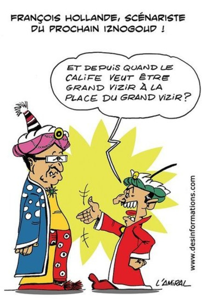François Hollande, scénariste du prochain Iznogoud | Baie d'humour | Scoop.it