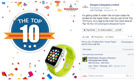 How a Facebook Contest Helped Real Estate Giant Sangam LifeSpaces Increase Fans   Digital Marketing Services   Scoop.it