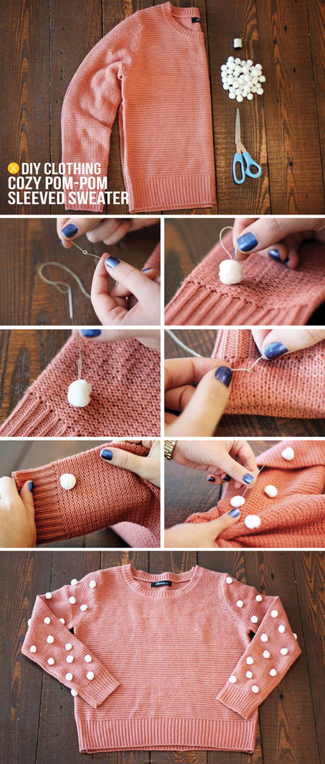 MY DIY | Pom-Pom Sweater | fasion | Scoop.it