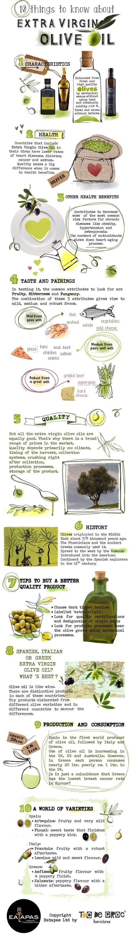 10 Surprising facts about Extra Virgin Olive Oil | All Infographics | Scoop.it