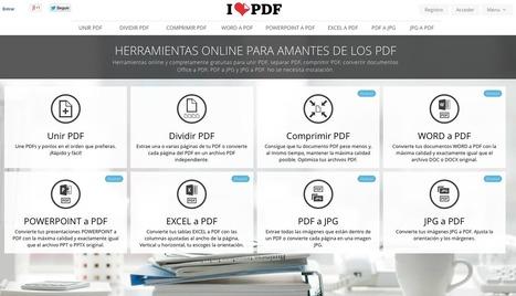 AYUDA PARA MAESTROS: I love PDF - Comprime, divide, une o pasa a otro formato cualquier PDF | Enseñando con TIC | Scoop.it