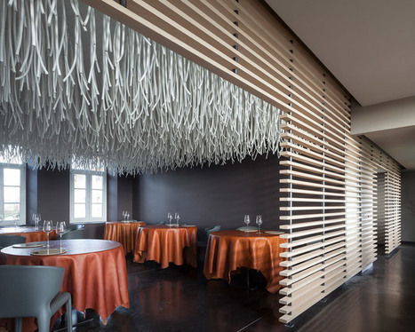 quentin de coster manipulates belgian restaurant with polyester rope - designboom | architecture & design magazine | CLOVER ENTERPRISES ''THE ENTERTAINMENT OF CHOICE'' | Scoop.it