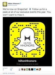 Hilton is trawling for millennials on Snapchat - Digiday | Emerging Media (while dreaming of Paris!) | Scoop.it