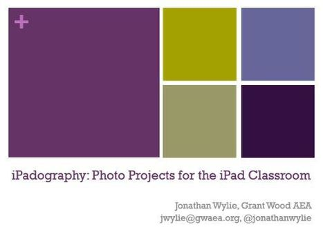 iPadography: Photo Projects for the iPad Classroom - Jonathan Wylie | iPads in Education | Scoop.it