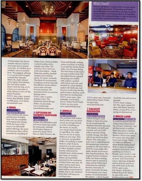 8 of the Best Indian Restaurants in the UAE – Ahlan Magazine | Holiday Inn Dubai Al Barsha | Scoop.it