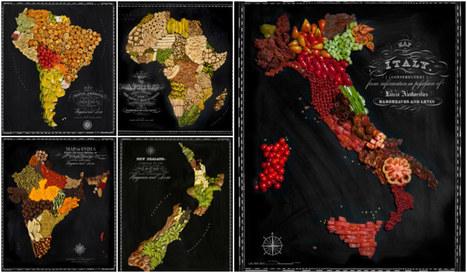 bellissime Food Maps create da un fotografo e una food stylist   Viaggiare   Scoop.it
