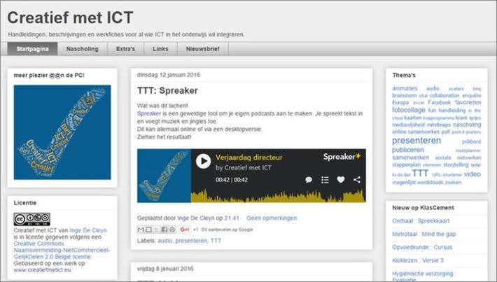 Edu-Curator: Gespot! Vlaams edublog 'Creatief met ICT' | Educatief Internet - Gespot op 't Web | Scoop.it