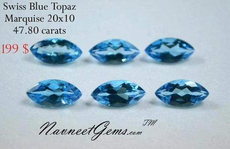Swiss Blue Topaz for Sale, Wholesale Swiss Blue Topaz | NavneetGems.com | Swiss Blue Topaz | Scoop.it