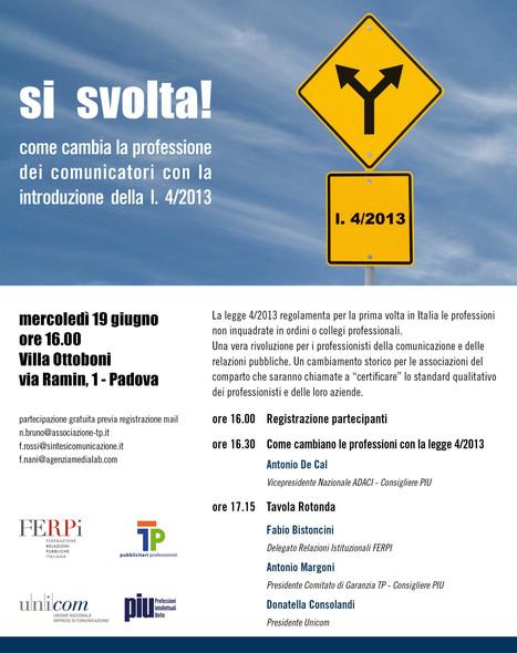 Cosa cambia la legge 4/2013 per le professioni. | Marketing e comunicazione | Scoop.it