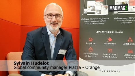 Interview de Sylvain Hudelot / Global Community Manager de Plazza - RSE d'Orange | Communication interne & Numérique | Scoop.it