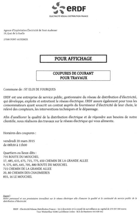 Coupure de courant sur le Mouchel le 20 mars | Haute-Normandie | Scoop.it