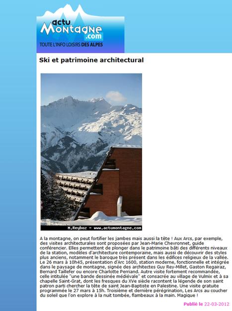 Ski et patrimoine architectural | mars 2012 | Actu Montagne | ARTIS MIRABILIS : toute la revue de presse | Scoop.it