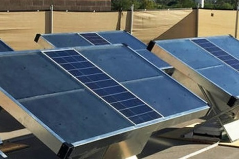 Source : un panneau solaire qui produit de l'eau potable   EFFICYCLE   Scoop.it