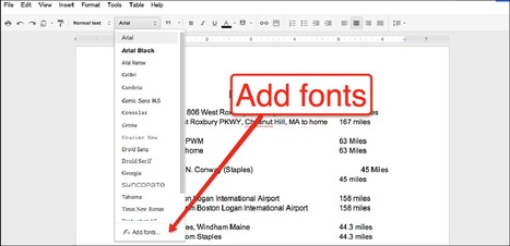 How to Add 450+ Fonts to Your Google Documents & Slides | Time to Learn | Scoop.it