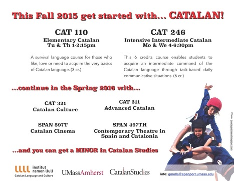 Take CATALAN this Fall Semester at UMASS | The UMass Amherst Spanish & Portuguese Program Newsletter | Scoop.it