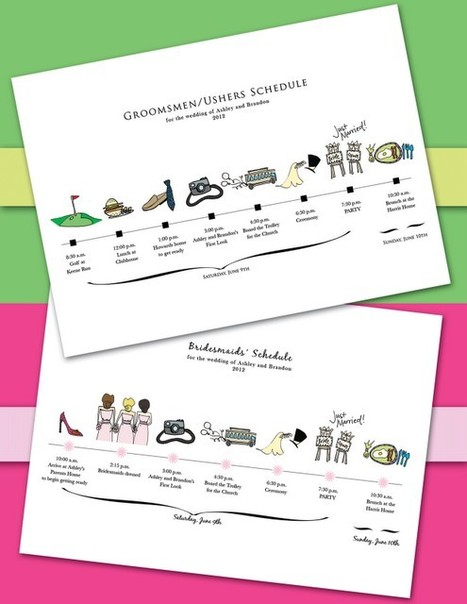 How cute are these wedding day schedules? | wedding | Scoop.it