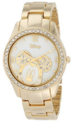 ###  MK2127 Disney Womens MK2127 Mickey Mouse Rhinestone Accent Gold-Tone Bracelet Watch Disney | Cheap Casual Watches Men | Scoop.it