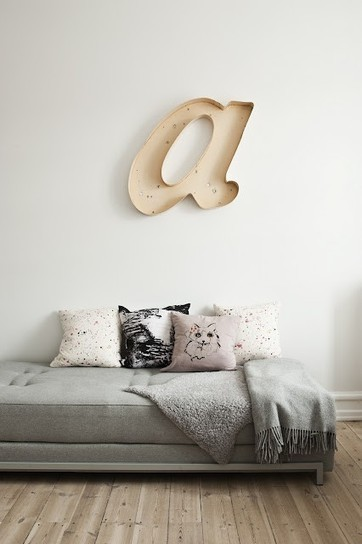 {Today I ♥ } Les grandes lettres déco | DecoCrush blog déco, idées déco | décoration & déco | Scoop.it