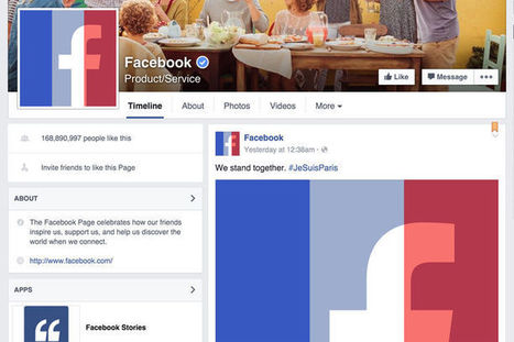 #JeSuisParis : Facebook, Google, Uber… Les géants de la Silicon Valley aux couleurs de la France | Médias sociaux et tourisme | Scoop.it