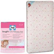 Kolcraft Crib/Toddler Mattress with Sealy Crib Mattress Pad, Pink | +++ Special Sale | Scoop.it
