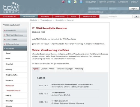 TDWI ROUNDTABLE HANNOVER 05.09.2013   VISUAL BUSINESS ANALYTICS 08-2013   Scoop.it
