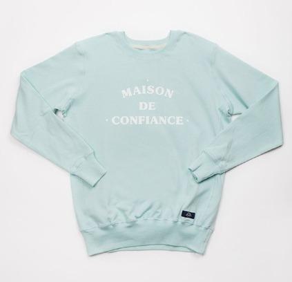 Bleu de Paname | Sweatshirt Maison de Confiance (Glace) | Men's style | Scoop.it