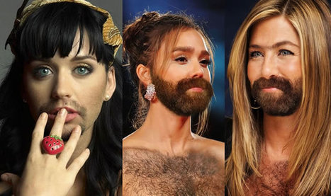 Hilarious Female Celebrity Pictures With Beard Grooming Styles | General News And Stories | Scoop.it