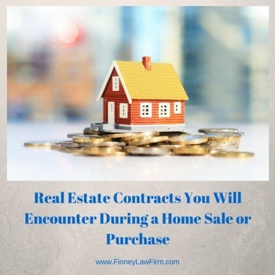 Real Estate Contracts During a Home Sale or Purchase | Finney Law Firm | Real Estate | Scoop.it