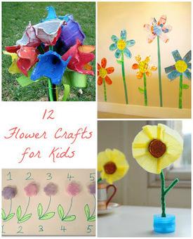 Reading Confetti: 12 Spring Flower Crafts: Kid's Co-op | Trabalhos Manuais no Jardim de Infância | Scoop.it