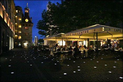 Place du Molard in Geneva: walking on luminous cobblestones | Fractions of the world Travel blog | Scoop.it