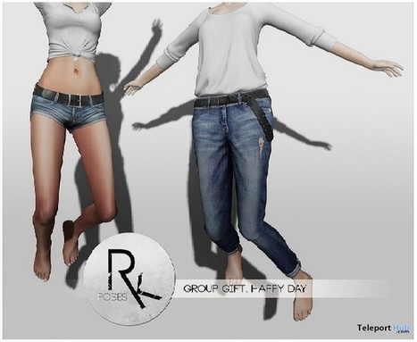 Happy Day Pose Group Gift by RK Poses | Teleport Hub - Second Life Freebies | Second Life Freebies | Scoop.it