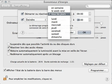 [Tuto] : Programmez le démarrage et l'extinction de votre Mac | Time to Learn | Scoop.it