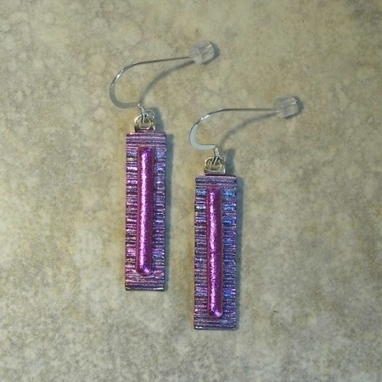 Artwork: Pink Rectangular Drop Earrings - Open House Art | Art - Crafts - Design | Scoop.it
