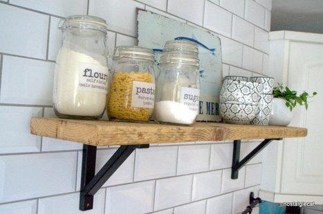 nostalgiecat: Reclaimed scaffolding wood for new kitchen shelves... | House Design | Scoop.it