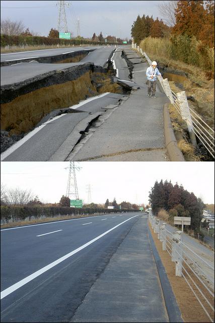 [Photo] Une restauration de route éclair    Flickr - Photo Sharing!   Japon : séisme, tsunami & conséquences   Scoop.it