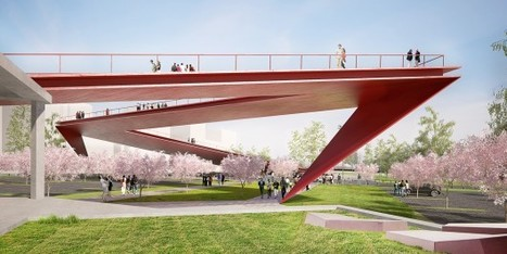 "Architects of Invention and Archiplan Propose ""Origami Highline"" for Santiago 