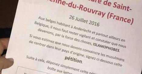 Anderlecht: une enquête de police ouverte contre une pétition islamophobe | Politici in Brussel | Scoop.it