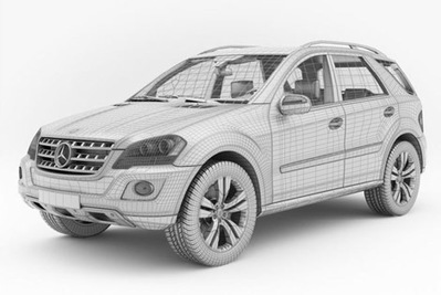 Mercedes ML 500 3D | 3D Library | Scoop.it