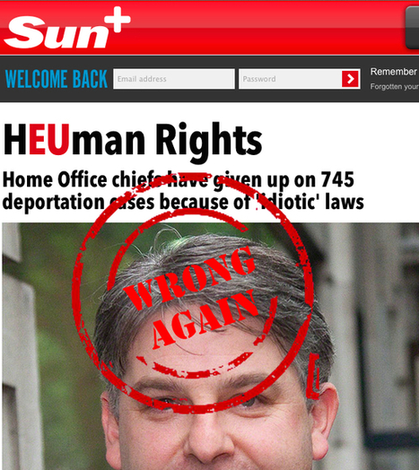 The Sun just keeps getting it wrong on human rights | Welfare, Disability, Politics and People's Right's | Scoop.it