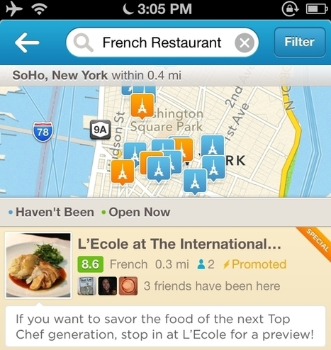 Foursquare ouvre sa plate-forme publicitaire aux commerçants   SOCIAL TO STORE (from online community to offline sales)   Scoop.it