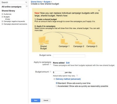 AdWords Introduces Ability To Share Budgets Across Campaigns   A Social, Tech, Market, Geek addicted   Scoop.it