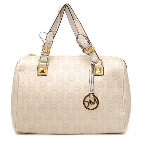Michael Kors Grayson Monogram Large Vanilla Satchel Bag | new style | Scoop.it