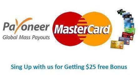 Payoneer MasterCard with free bonus   Blog4freelancer   Scoop.it