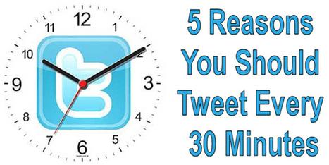 5 Reasons You Should Tweet Every 30 Minutes #HMSBlog | Social Media Marketing | Scoop.it
