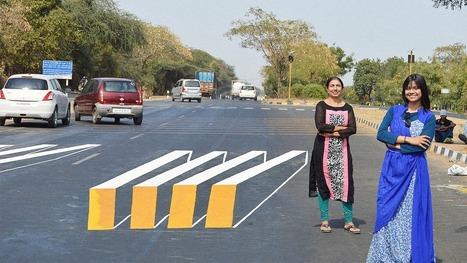 Con ilusiones ópticas buscan proteger a los peatones en India | TUL | Scoop.it