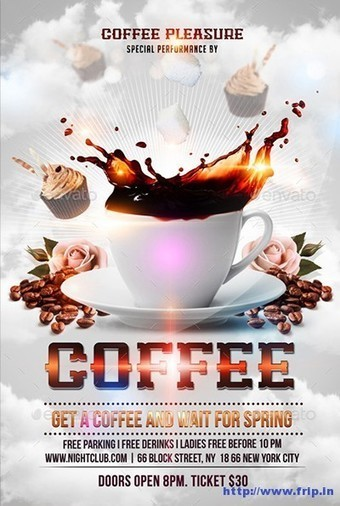 45+ Best Coffee Shop Flyer Print Templates 2015   Frip.in   Print Templates   Scoop.it