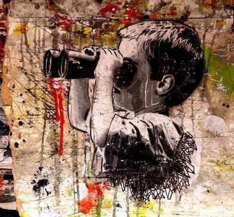 AC 3 Monitor' Street Art Stencil 'Sync Bombs'  @GoogleStreetArt | ILLUSTRATION-STREET ART-DIGITAL ART-GRAPHISME-AND MORE... | Scoop.it