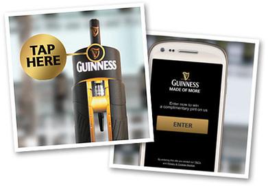Guiness : une bière offerte, si vous possédez un smartphone NFC | la NFC, ça vous gagne | Scoop.it